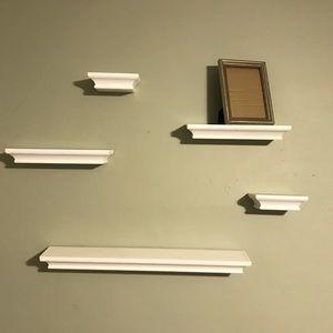 5 piece shelf set